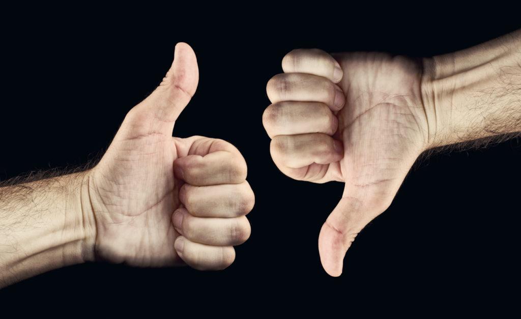 позитивные и негативные отзывы